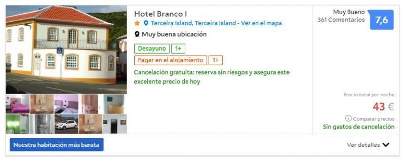 Hotel barato en Terceira