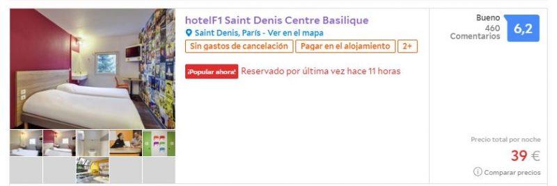 Hotel barato para viaje a París en octubre