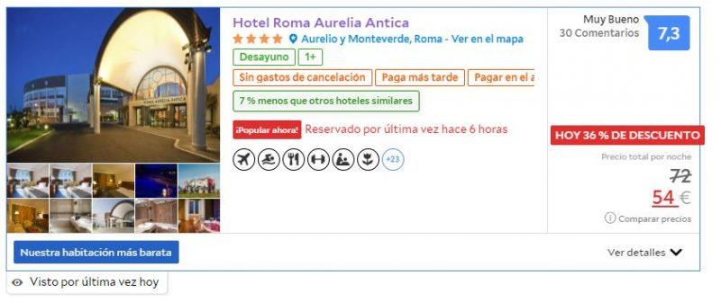 Hotel barato para viaje a Roma en noviembre