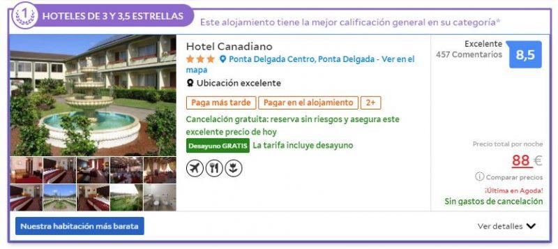 Hotel en la isla de Sao Miguel