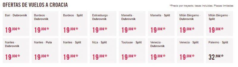 Vuelos baratos a Croacia