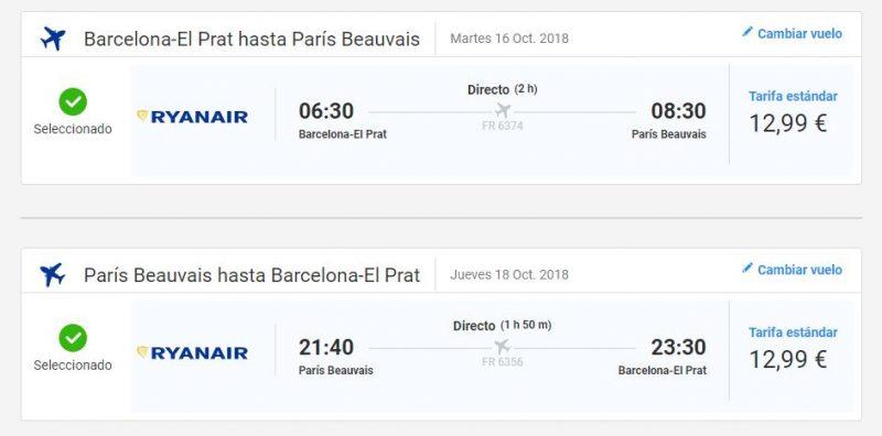 Vuelos baratos para viaje a París en octubre
