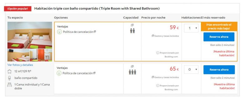 Alojamiento barato en Madrid