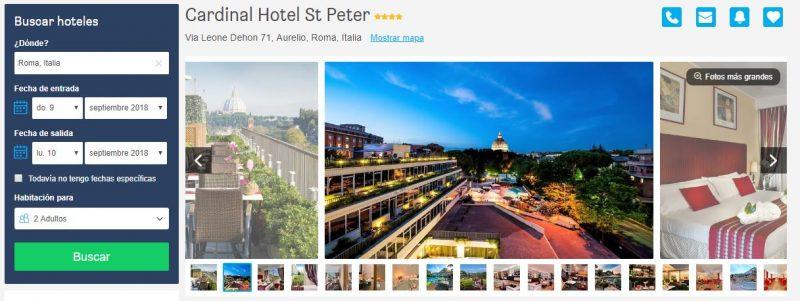 Tarifa error en un hotel de 4 estrellas en Roma