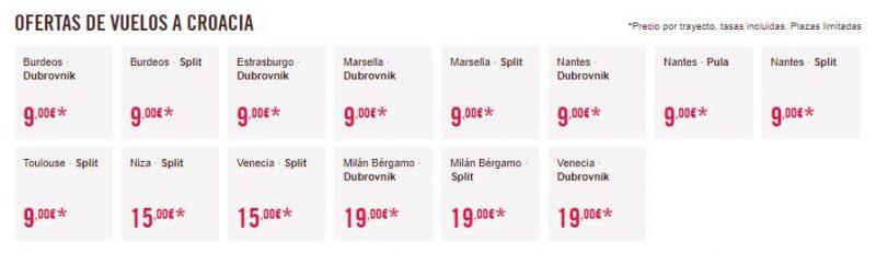 Vuelos 9 euros Croacia