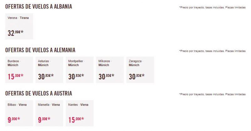 Vuelos baratos a Albania, Alemania y Austria