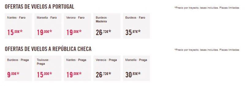 Vuelos baratos a Portugal y la República Checa