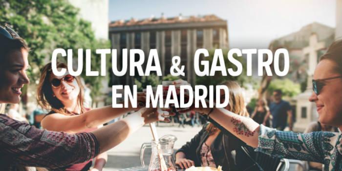 Cultura y gastronomía en Madrid con hasta un 55% de descuento