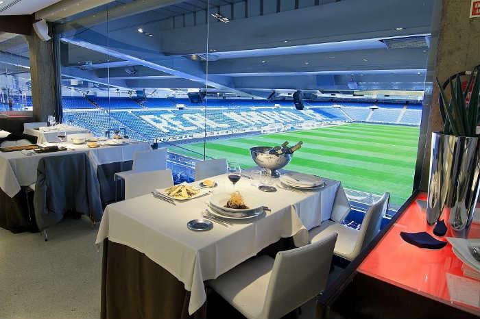 Real Café Bernabéu, con impresionantes vistas al estadio del Madrid