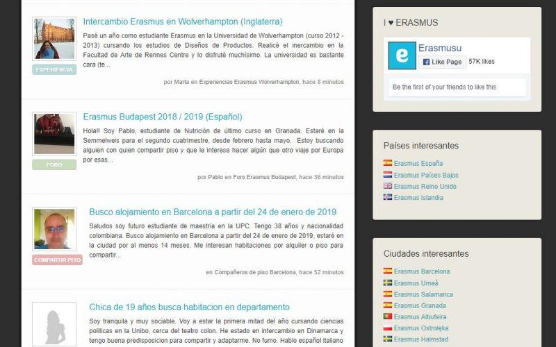 Erasmusu es la web de los Erasmus