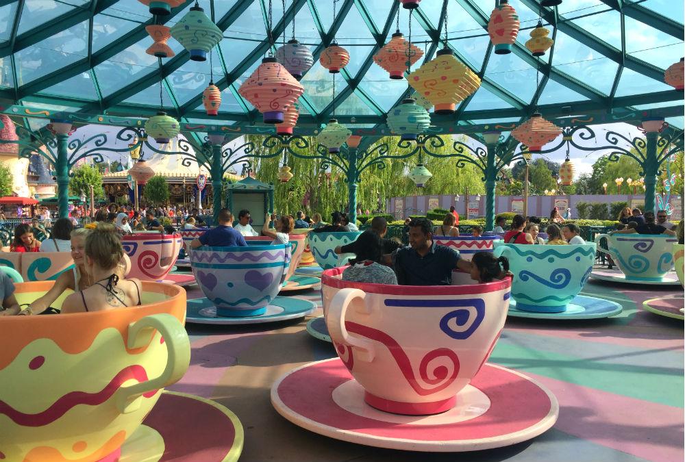 Mad Hatter's Tea Cups tazas disneyland paris