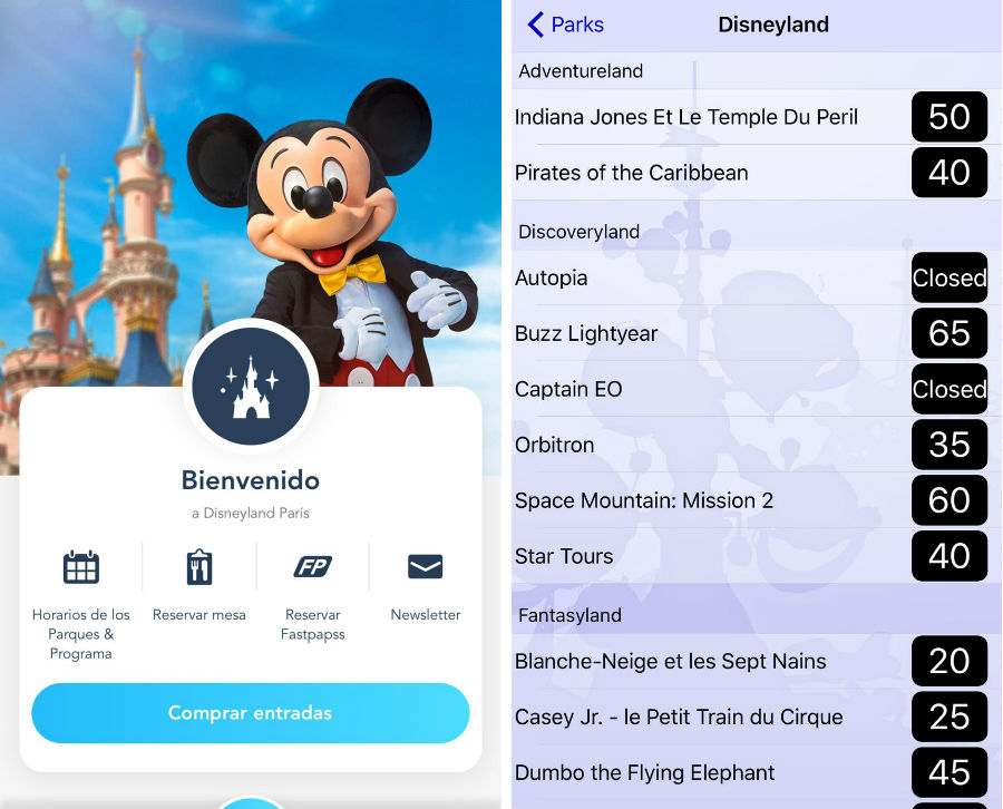 app disneyland paris android iphone