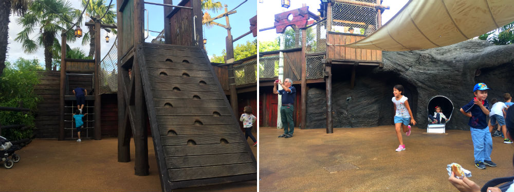 pirates beach zona juegos disneyland paris columpios